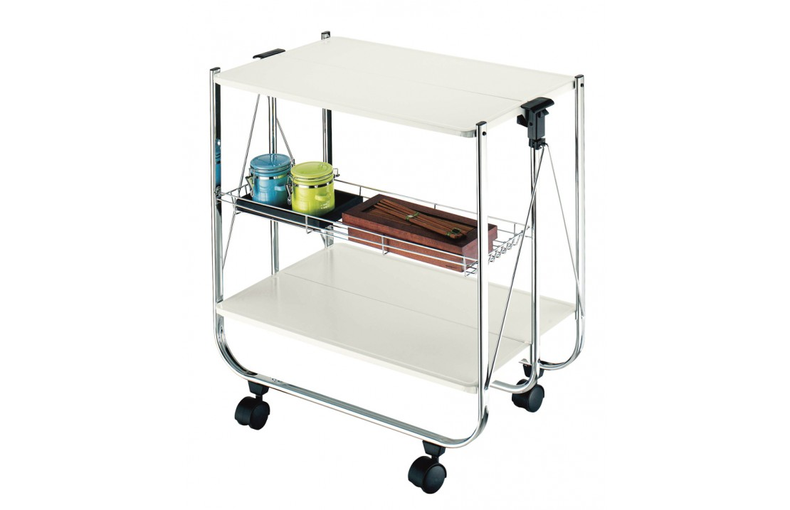 Folding Food Trolley in metal