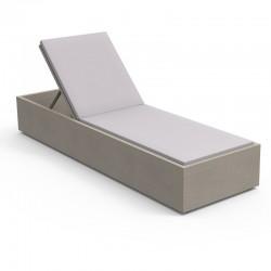 Aluminium sun lounger with...
