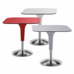 Square bar table with steel base - Zanziplano