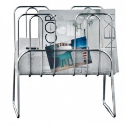 Magazine Rack in steel - Press