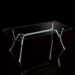 Tavolo rettangolare con piano in vetro - Pegaso