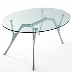 Tavolo ovale con piano in vetro - Pegaso