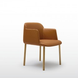 Deep visitor armchair with...