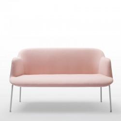 Deep 2 seater sofa 4 steel base