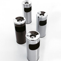 Steel ashtray/waste bin - Serie 5A