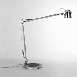 Steel and aluminium table lamp - Mega Led