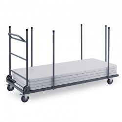 Trolley for handling of catering rectangular tables