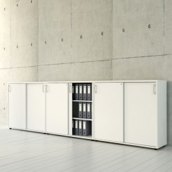 Storage system with sliding doors composition A3P04