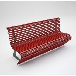 Bench Elodie steel/aluminum