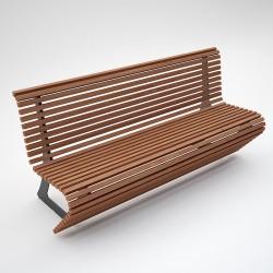 Bench Elodie steel/wood