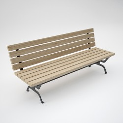 Bench Retrò steel/wood