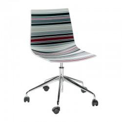 Sedia girevole ufficio con ruote - Colorfive 5R