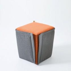 Finfero, pouf in fabric