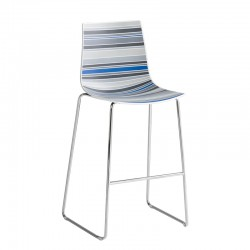 Stackable coloured stool - Colorfive