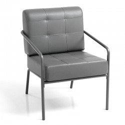 Armchair in eco-leather