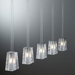 Vicky, 5 Spots Suspension crystal lamp