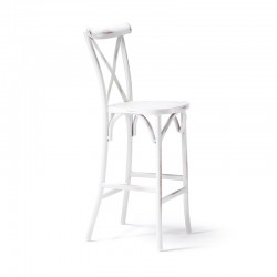 Barstool in antiqued white color - Rusty