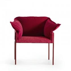 Carmen padded fabric armchair