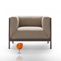 Clou armachair in fabric or...
