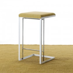 Gray barstool in fabric or...
