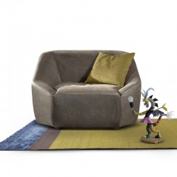 Inline armchair in fabric...