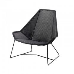 Garden lounge armchair in rattan - Breeze