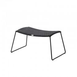 Outdoor footstool in Rattan - Breeze