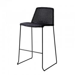 Stackable outdoor stool in rattan - Breeze