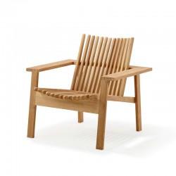 Stackable chair lounge in teak - Amaze