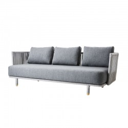 Outdoor sofa 3 seater in fabric - Moments