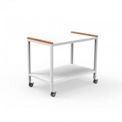 Serving cart in aluminium...
