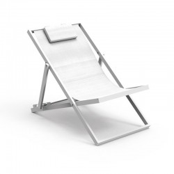 Outdoor folding deck chair in fabric