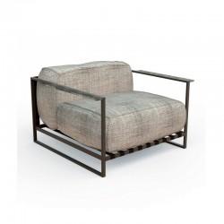 Outdoor armchair in steel...