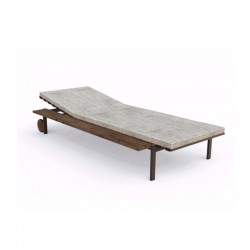 Stackable sun lounger in steel and fabric - Casilda