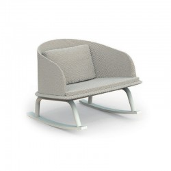 Outdoor rocking chair in aluminium and fabric - Cleo