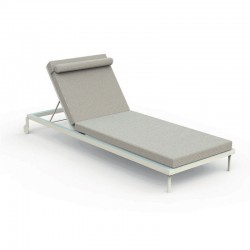 Stackable sun lounger in aluminium and fabric - Cleo