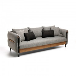 Outdoor fabric sofa with...