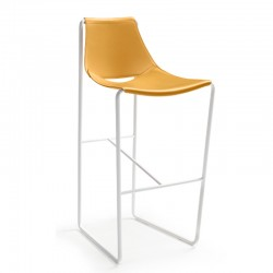 Leather stool H65/H75 - Apelle