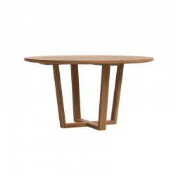 Outdoor round dining table in wood - Desert
