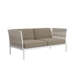 Outdoor sofa in aluminium and rope - Flash