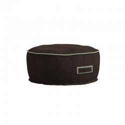 Padded round outdoor pouf...