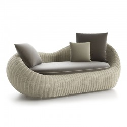 Outdoor sofa in rattan - Twiga