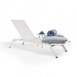 Stackable sunlounger with adjustable backrest - Maxim