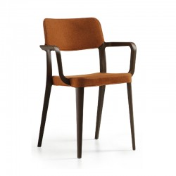 Padded chair with armrests - Nenè