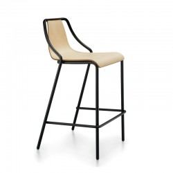 Stackable wood stool H.65/75 cm - Ola