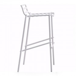 Painted steel stool - Trampoliere