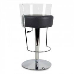 Stool with swivel base and transparent backrest - Bongo