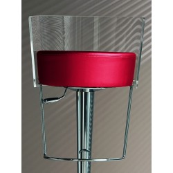 Swivel stool with metacrylate backrest - Bongo clear
