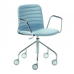 Swivel and padded chair with armrests and rocks - Liù