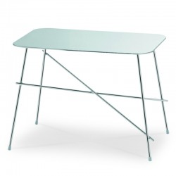 Coffe table with stainless steel or ceramic top - Walter